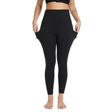 Women's Leggings Fitness Yoga Pants with Pocket High Waisted Tummy Control Workout Leggings Spodnie Damskie30