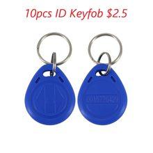 Chave da porta chip 10 pces cor azul rfid chave fobs 125khz proximidade abs tag chave para controle de acesso tk4100/em 4100 chip não gravável
