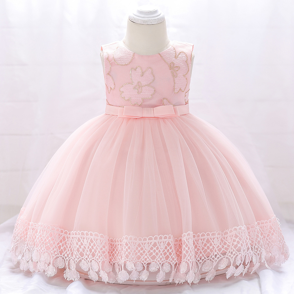 Cute Newborn Baby   Flower     Girl     Dress   Colorful Lace Floor Length Puffy   Flower     Girl     Dresses