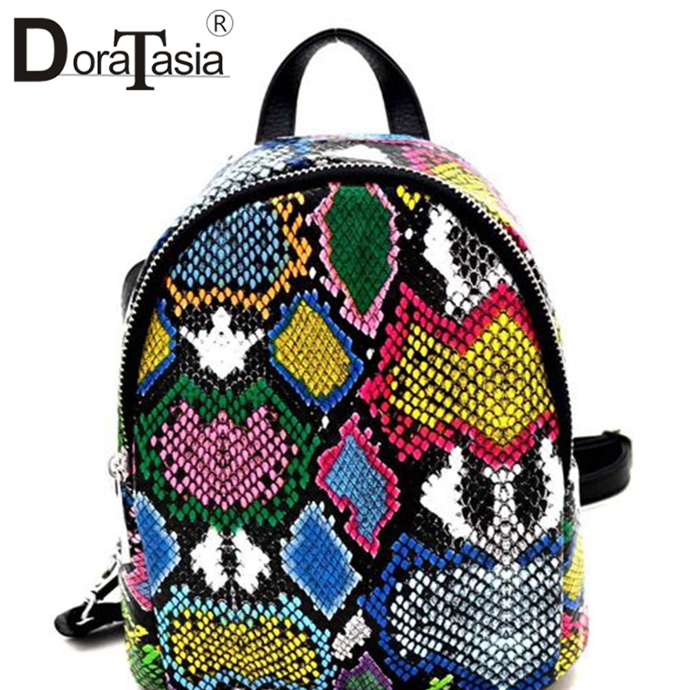 DORATASIA New INS Hot Colorful Animal Print Mini Backpack Women 2020 Cool Unique Small Capacity Top Handle Bag Ladies
