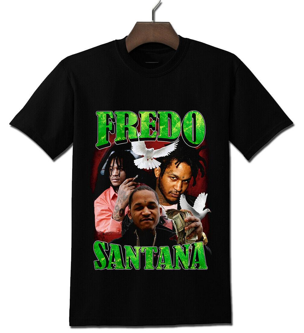 Fredo Santana Reprint Short Sleeve Cotton Black Men T Shirt L452