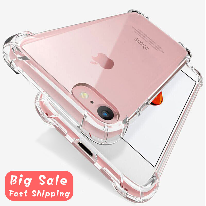 Anti Fall Shockproof Silicone Phone Case For IPhone 7 8 6 6S Plus 7 Plus XS Max XR 11 Pro Case Transparent Protection Back Cover