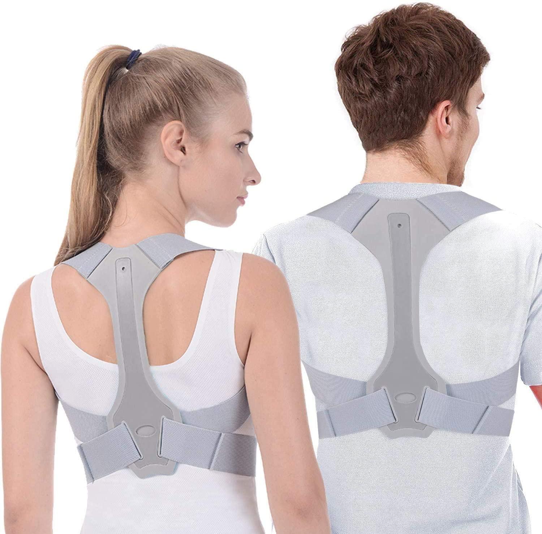 Costas postura corrector terapia corset coluna suporte cinto lombar para trás postura correção bandagem para homens