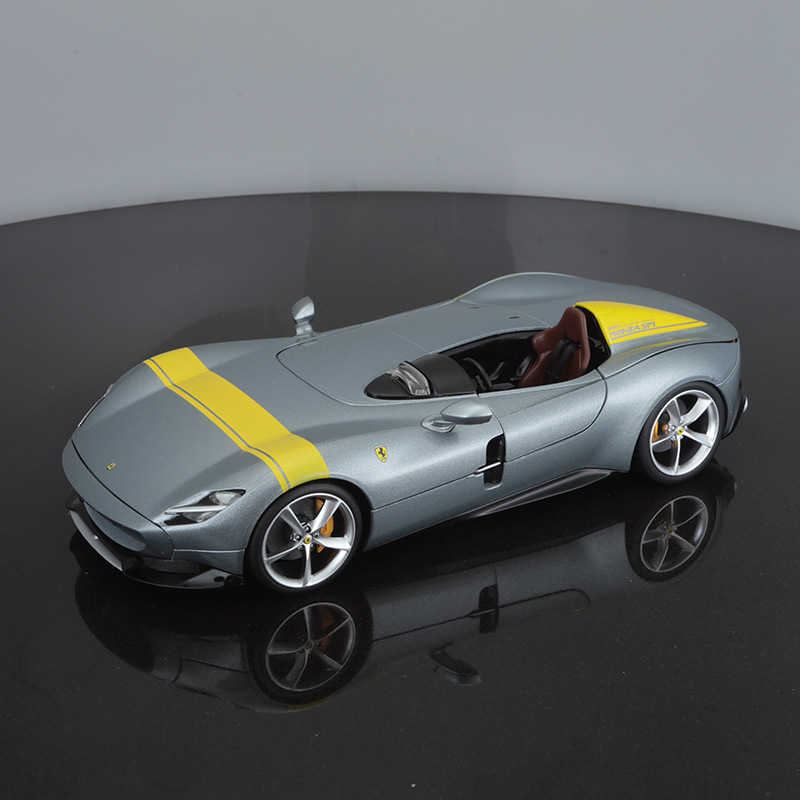 Bburago Diecast 1:18 Monza SP1 Grey Sport Car High Simulation Vehicle Alloy Model Car