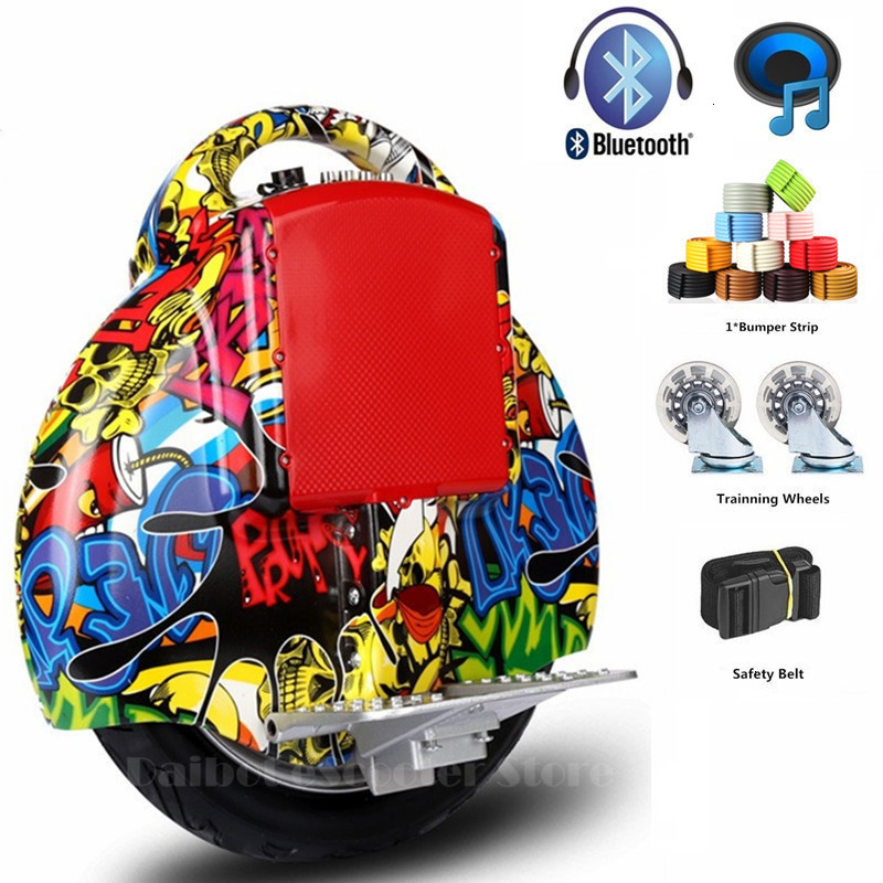 Daibot Portable Electric Scooter One Wheel Self Balancing Scooters Buletooth Speaker 14 Inch 350W 60V Electric Unicycle Scooter  (13)
