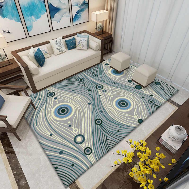 Декоративный ковер для гостиной, современный коврик с геометрическим принтом в богемном стиле, моющийся нескользящий водонепроницаемый напольный коврик для гостиной и спальни