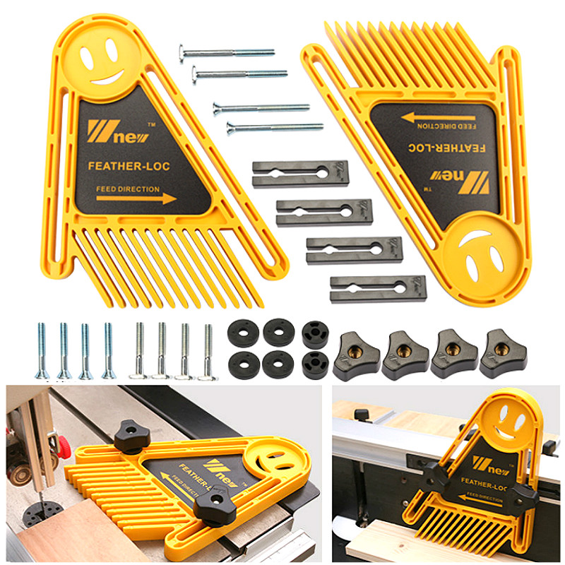 Multi-purpose Feather Loc Board Set Double Featherboards Miter Gauge for Woodworking Engraving Machine Slot DIY Tools