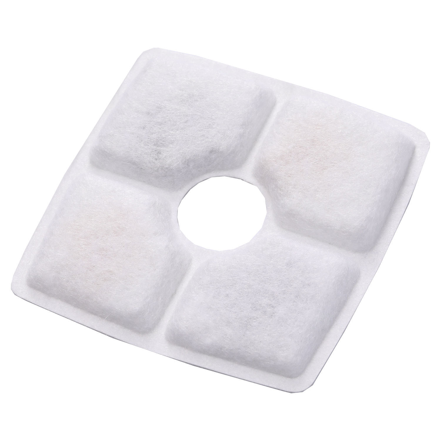 Filter element small flower square pet water dispenser accessories high iodine value coconut shell activated carbon and ion ex