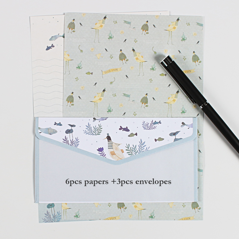 9 Pcs/lot Postcard Letter Stationery  Paper Envelope Vintage Envelopes For Invitations  Small Gifts Mini Writing Cute Envelopes