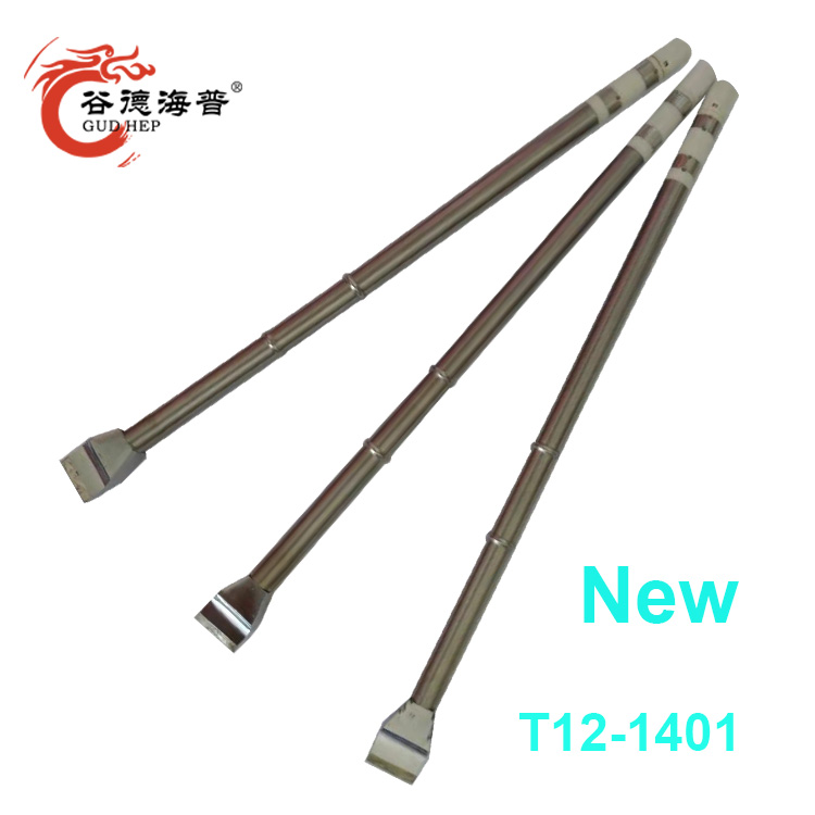 Gudhep New T12 Soldering Tips T12-1401 Replacement Welding Tips For Fx951 Soldering Rework Station