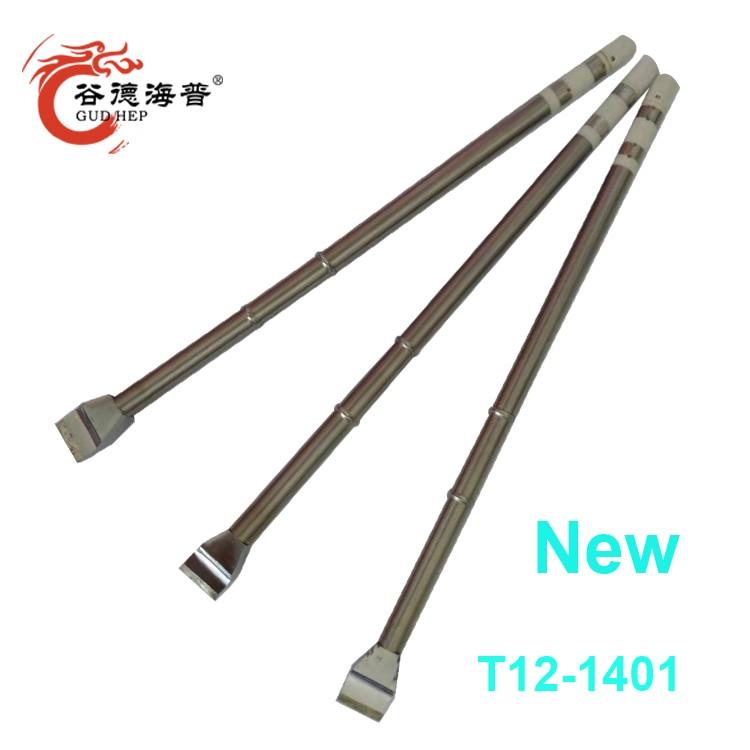 Gudhep New T12 Soldering Tips T12-1401 Replacement Welding Tips For Fx951 Soldering Rework Station