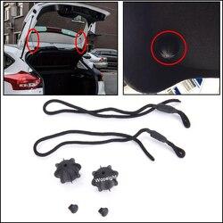 Wooeight Araba Arka Parsel Raf Dize Tutma Askısı Kordon Bagaj Kapağı Geri Asmak Sling Halat VW Golf 6 Için MK6 GTI R20 1K6863447A