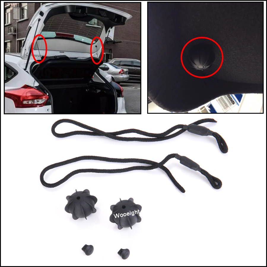 Wooeight Car Rear Parcel Shelf String Holding Strap Cord Trunk Lid Back Hang Sling Rope For VW Golf 6 MK6 GTI R20 1K6863447A