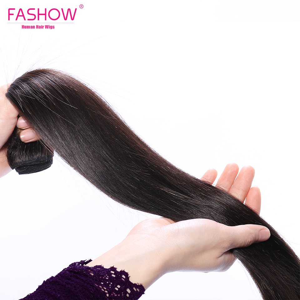 Fashow 30 32 34 36 40 inch  Straight Hair Bundles 100% Natural  Bundles Double Wefts  Hair s 2