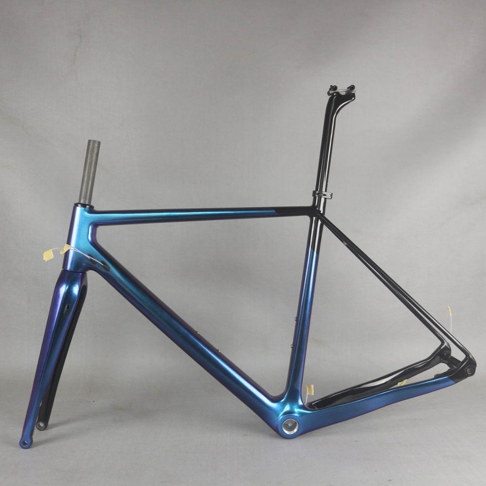 Chameleon Full Carbon Fiber Gravel Bicycle  Frame GR029 , Bicycle GRAVEL Frame Factory  CUSTOMIZED PAINT Frame MEN Frame