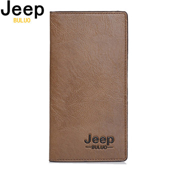 men wallets top pu leather vintage design purse men brand famous card holder mens wallet carteira masculina wholesale price JEEP BULUO Brand Wallet Clutch carteira masculina Men Leather Men Wallets Business Brand Card holder Coin Purse Men's Long  8068