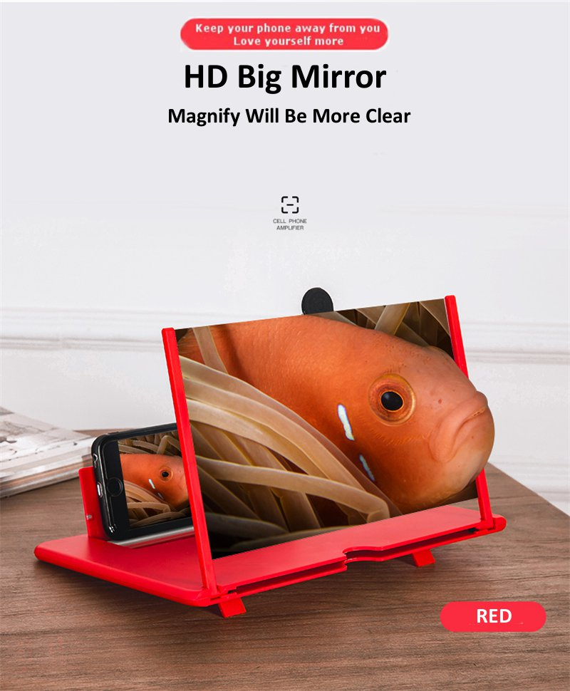 Mobile Phone Screen Magnifier Glass For Iphone and Android With 3D Effects