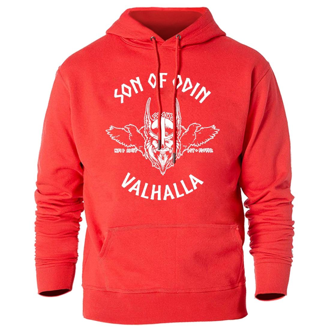 Men Hooded Clothes Vikings Sons Of Odin Sweatshirts 2020 Keep Warm Winter Autumn Hoody Streetwear Casual Hoodies Harajuku Tops