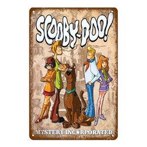 Постер для девочек, постер для девочек, мультипликационные фильмы-комиксы, сериал, металлические вывески, удивительные страшные рассказы, настенная наклейка, художественная доска, декор для детской комнаты
