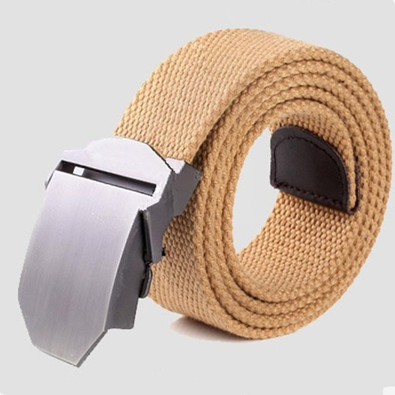 HobbyLane Men Outdoor Canvas Belt Hiking Camping Safety Waist Support Hunting Sports Wearable Breathable Military Tactical