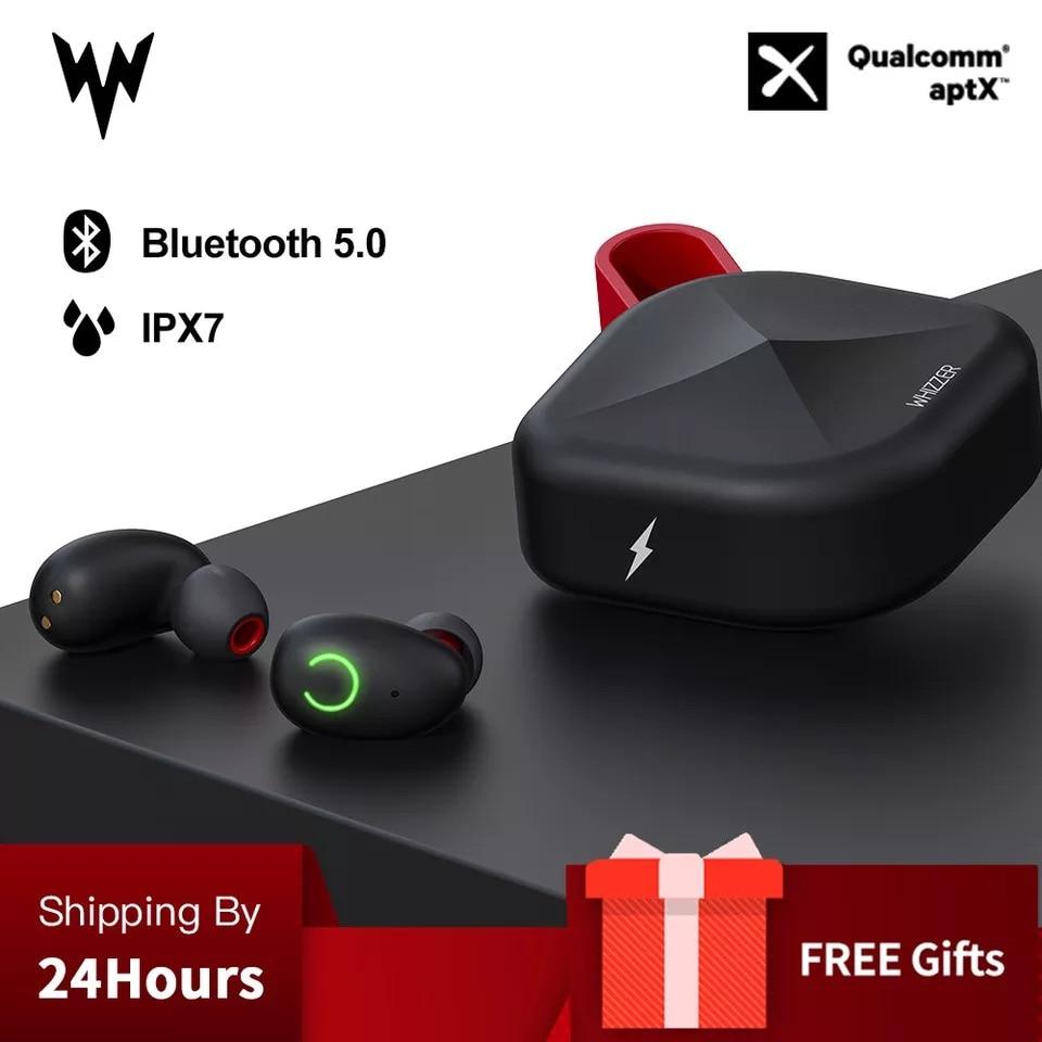 Whizzer B6 IPX7 Atualização À Prova D' Água TWS Earbud do Fone de ouvido Sem Fio Bluetooth 5.0 Suporte Aptx/AAC 45h O Tempo de Jogo Para iOS/Android