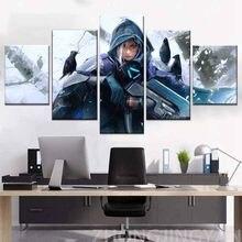 Wydruki na płótnie 5 sztuk Ana Amari Overwatch plakat z gry Hd drukowane obrazy do salonu malowanie domu ramka dekoracyjna