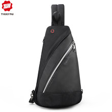 Tigernu 2019 New Casual Men Crossbody Bags Light Fashion High Quality Splashproof Chest Black Messengers For Teens Shoulder Bags(China)