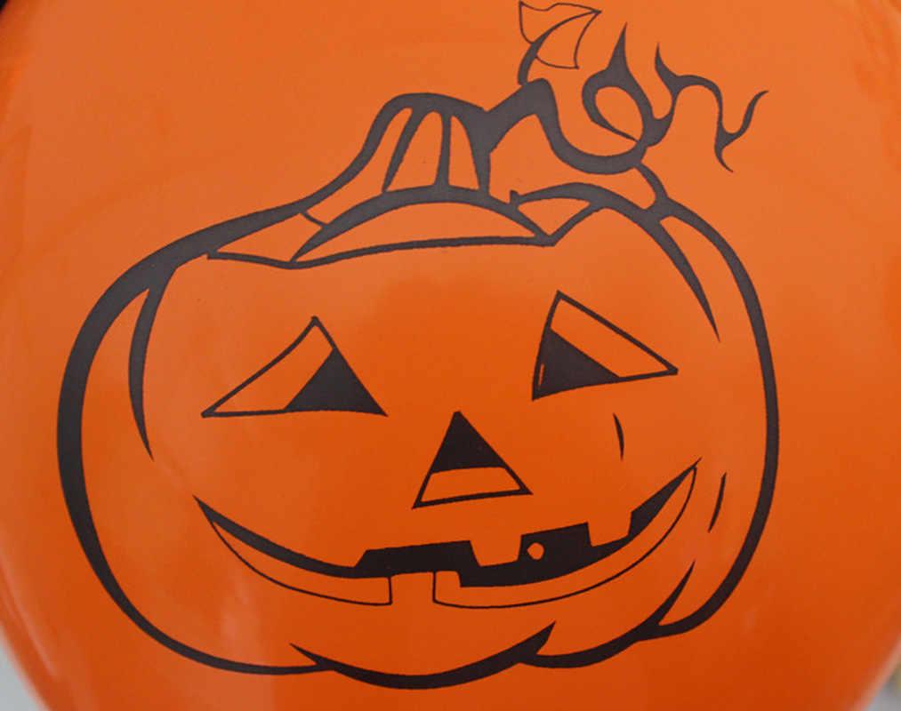 10 pçs 12 Polegada balões de látex aranha web abóbora horror halloween decoração hélio bola ar crianças brinquedo festa aniversário decoração quente