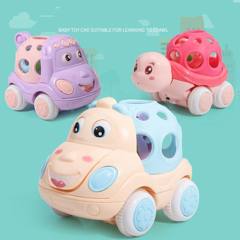 Nouvelle chambre bébé hochets voiture drôle bébé jouets Intelligence saisir les gencives doux dentition en plastique main cloche marteau cadeau éducatif