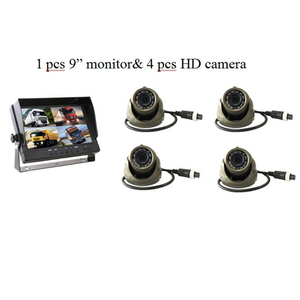 9 дюймов AHD 4ch рекордер DVR автомобильный монитор Автомобиль Грузовик ночное видение камера заднего вида охранное наблюдение сплит-экран Quad kit