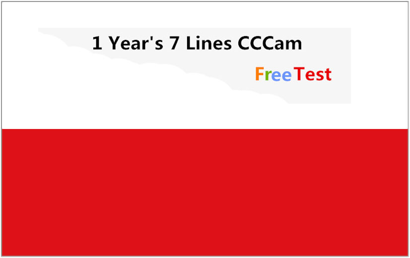 Special For Poland  Europe 7  Lines HD AV Cable For Satellite Receiver Cccam Lines Of 1 Year DVB-S2 Europe Clines For Free Sat V
