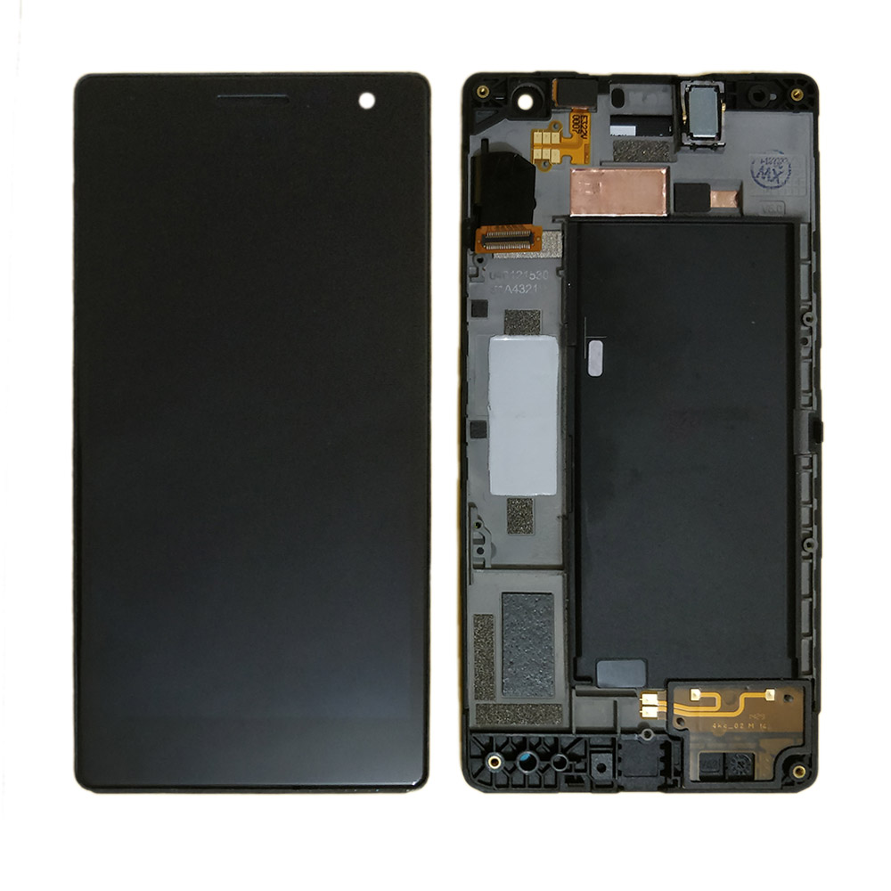 For <font><b>Nokia</b></font> Lumia 730 735 LCD Display and Touch Screen Digitizer Assembly with Frame for lumia 730 lcd replacement RM-<font><b>1040</b></font> part image