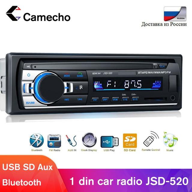 Camecho 1DIN Trong Xe Máy Bộ Đàm Stereo Điều Khiển Từ Xa Bluetooth Âm Thanh Nổi 12V Mp3 Người Chơi USB/SD Máy Nghe Nhạc Đa Phương Tiện