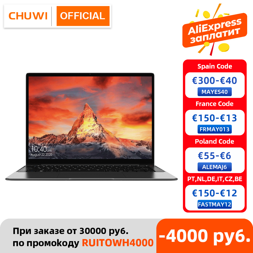 CHUWI GemiBook Pro 14 inch 2K Screen Laptop 12GB RAM 256GB SSD Intel Celeron Quad Core Windows 10 Computer with Backlit Keyboard 1