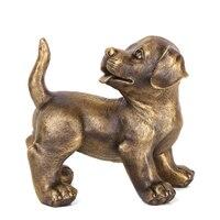 MOZART Pure Copper Dog Ornaments Pug Dog Copper Dog Back Dog Crafts Shop Decoration