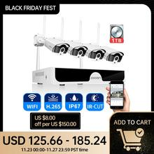Cameras-Set System Surveillance-System-Kit Audio-Recording WIFI Home-Security-Camera