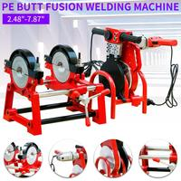 110V Pipe Butt Fusion Welder PE PP PB PVDF HDPE PVC Piping Welding 2.48 7.87 Screw Style 2 Clamp Plastic Pipes Hot melt Machine