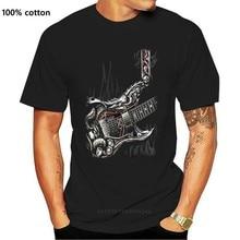SPIRALE DIREKTEN LUFT GITARRE T Hemd SCHÄDEL Tattoo Rock Metall Gitarre musik Top