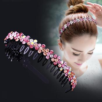 Unisex Alice opaska do włosów opaska z pałąkiem na głowę mężczyźni kobiety sport opaska do włosów Hoop Top Metal podwójna grzywka kwiat z kryształkiem akcesoria do włosów tanie i dobre opinie CN (pochodzenie) COTTON NYLON POLIESTER Satin Wełniana SILK Z szyfonu PŁÓTNO Mieszanka bawełny Żel krzemionkowy Z bawełny organicznej