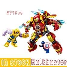 Bloki Avenger nieskończoność wojna Thanos kapitan Hulkbuster klocki Hulkbuster Iron Man zbroja prezenty dla dzieci Mini klocki