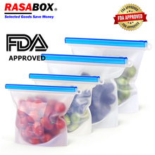 RASABOX - Food Storage & Organization Sets, Reusable Silicone Bags, Freezer for Snack Lunch Sandwich, Airtight