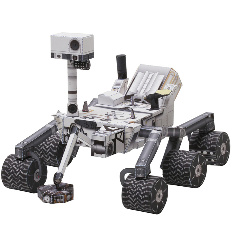 Space Mars Rover Curiosity Folding Cutting Mini Handmade 3D Paper Model Sci-Fi Papercraft DIY Kids Adult Craft Toys ZX-006
