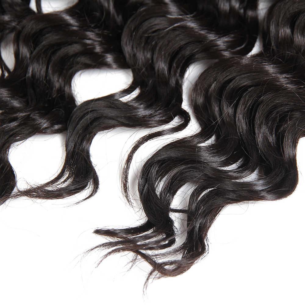 SOKU Campuran Rambut Bundel 16-20Inch Gelombang Dalam Ekstensi Rambut 6 Piece/Pack Sintetis Rambut dan Rambut Campuran untuk Kepala Penuh