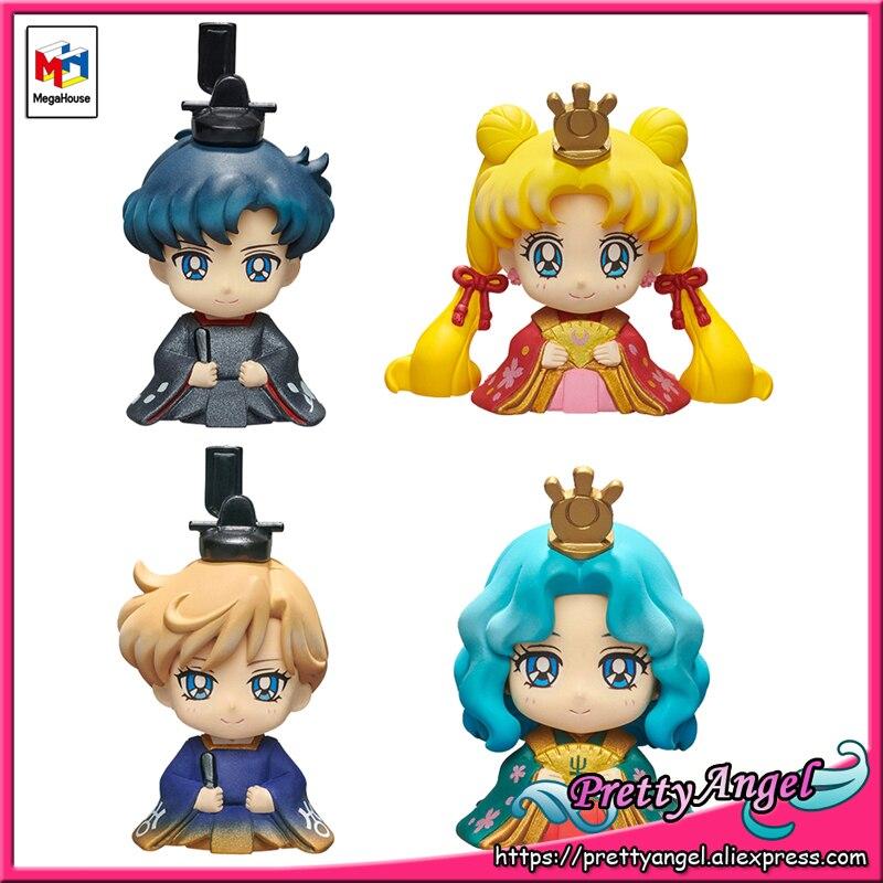 PrettyAngel - Genuine Megahouse Petit Chara Hinamatsuri Pretty Guardian Sailor Moon Usagi & Mamoru Haruka & Michiru 1