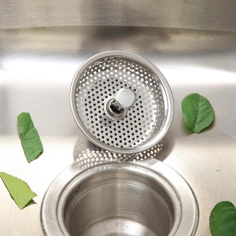 Kitchen Sink Stopper Plug Drainer Filter Cover Stainless Steel Bathroom Basin Strainer Household Replacement Supplies