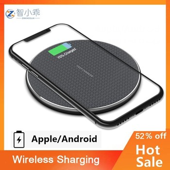 10W Quick Wireless Charger for Standard QI Android Phones S9 S10 S20 Note9 Fast Wireless Charging Pad for Phone 11 Pro XS Max XR 1