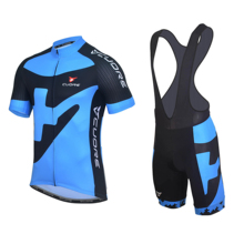 cuore Pro Team Cycling Clothing Summer Suit Blue bicycle Jersey Short Sleeve Set MTB Road Breathable Maillot Ciclismo