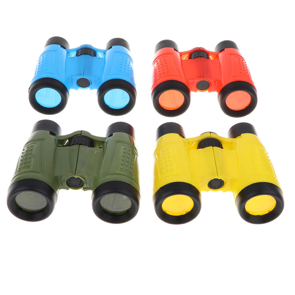 Children Mini Telescope Toy Magnification Observing Binoculars for Camping Hiking Travel