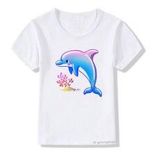 Детская одежда футболка для мальчиков и девочек с мультяшным