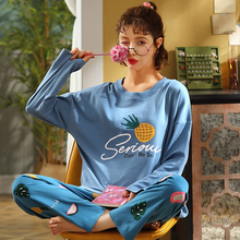 Người Phụ Nữ Bộ Đồ Ngủ Bộ Thời Trang Đồ Ngủ Nữ Thu Đông Cotton Pyjama Bộ Hoạt Hình Nhà Phù Hợp Với Tay Dài Đồ Femal
